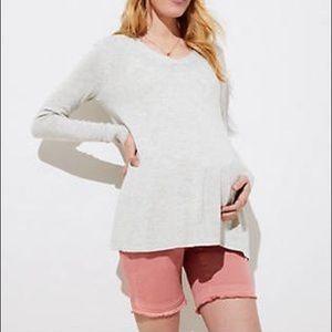 LOFT salmon pink maternity shorts - size 2